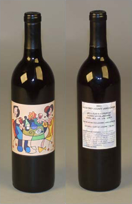 sANGIOVESE wine label Bonny Doon Vineyard limited edition fLANSBURG dESIGN